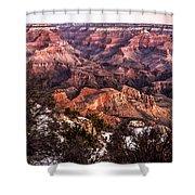 Grand Canyon Winter Sunrise Landscape At Yaki Point Shower Curtain