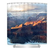 Grand Canyon With Snow Shower Curtain