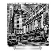 Grand Central At 42nd St - Mono Shower Curtain