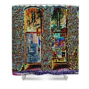 Grand Central Bakery Mosaic Shower Curtain