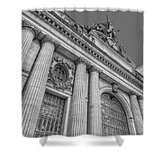 Grand Central Terminal - Chrysler Building Bw Shower Curtain