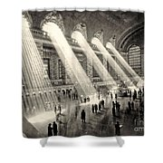 Grand Central Terminal, New York In The Thirties Shower Curtain