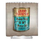 Grand Champion Motor Oil Shower Curtain