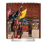 Grand Entry At Star Feather Pow-wow Shower Curtain