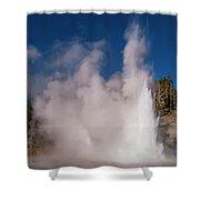 Grand Geyser Eruption Three Shower Curtain