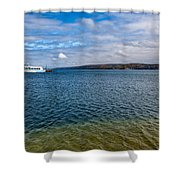 Grand Harbor On Lake Superior Shower Curtain