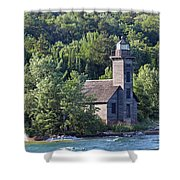 Grand Island East Channel Light Shower Curtain