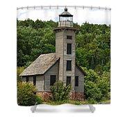 Grand Island Lighthouse Shower Curtain