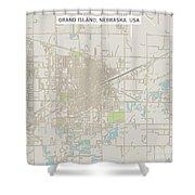 Grand Island Nebraska Us City Street Map Shower Curtain