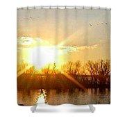 Grand Lake Sunset Shower Curtain