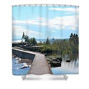 Grand Marais Breakwater Shower Curtain