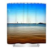 Grand Marais Harbor Shower Curtain