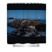 Grand Marais Lighthouse Shower Curtain