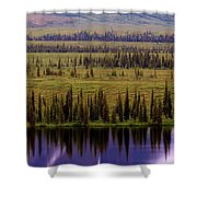 Grand Mountain Reflections Shower Curtain