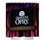 Grand Ole Opry House In Nashville, Tennessee. Shower Curtain