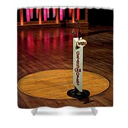 Grand Ole Opry House Stage Flooring - Nashville, Tennessee Shower Curtain