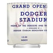 Grand Opening Dodger Stadium Ticket Stub 1962 Shower Curtain
