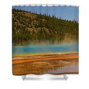 Grand Prismatic Pool Shower Curtain