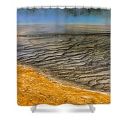 Grand Prismatic Runoff Shower Curtain
