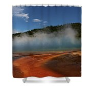 Grand Prismatic Spring At Yellowstone's Midway Geyser Basin Shower Curtain