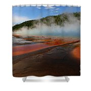 Grand Prismatic Spring Colors Shower Curtain