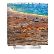 Grand Prismatic Spring Shower Curtain by Ken Barrett