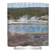 Grand Prismatic Spring, Midway Geyser Shower Curtain