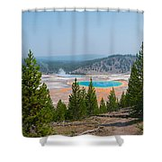 Grand Prismatic Spring Panorama Shower Curtain