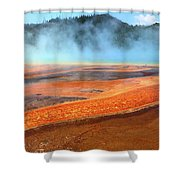 Grand Prismatic Spring, Yellowstone Shower Curtain