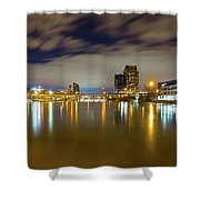 Grand Rapids At Night Shower Curtain