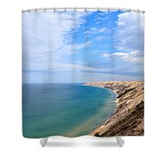 Grand Sable Dunes Overlook In Grand Marais Michigan Shower Curtain