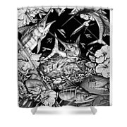 Grand Slam Collage Shower Curtain