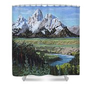 Grand Teton And Snake River Shower Curtain