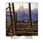 Grand Teton Framed Shower Curtain