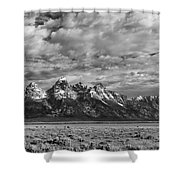 Grand Teton Majesty Shower Curtain by Sandra Bronstein