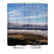 Grand Teton Mountain Range Shower Curtain