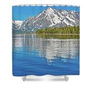 Grand Teton Mountain Reflection On Jackson Lake Shower Curtain