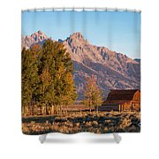 Grand Teton Mountain View Shower Curtain