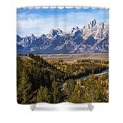 Grand Teton Mountains Shower Curtain