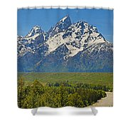Grand Teton National Park And Snake River Shower Curtain