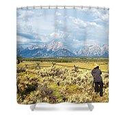 Grand Teton Photograpers Shower Curtain