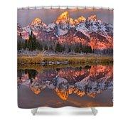 Grand Teton Snake River Sunrise Reflections Shower Curtain