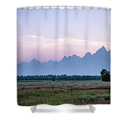 Grand Teton Sunset Shower Curtain