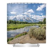 Grand Teton View No.1 Shower Curtain by Margaret Pitcher