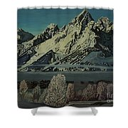 Grand Teton Winter Shower Curtain