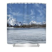 Grand Tetons And Snake River From Oxbow Bend Shower Curtain
