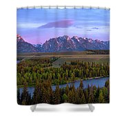 Grand Tetons Shower Curtain by Chad Dutson