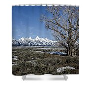 Grand Tetons From Gros Ventre Shower Curtain