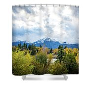 Grand Tetons In The Fall Shower Curtain