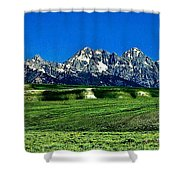 Grand Tetons Shower Curtain